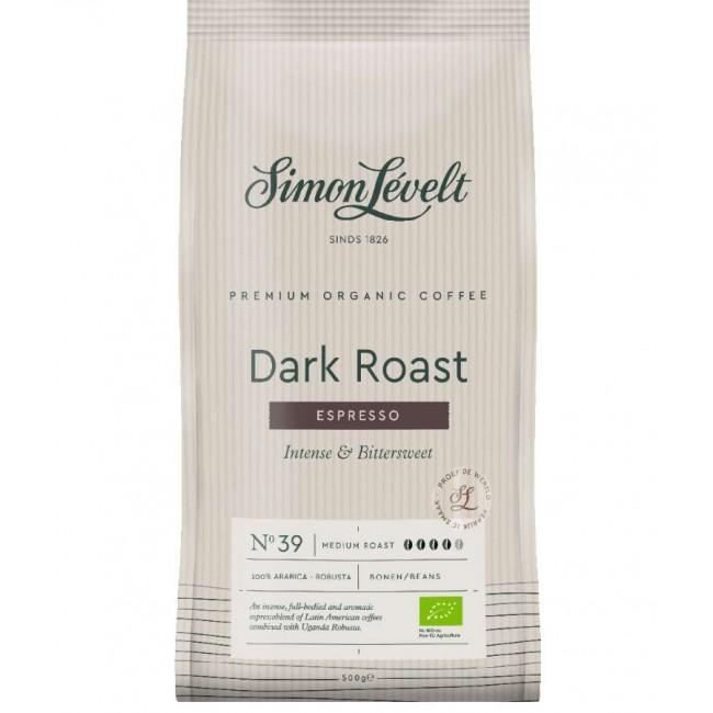 Cafea ecologica Espresso boabe Dark Roast, Simon Lévelt