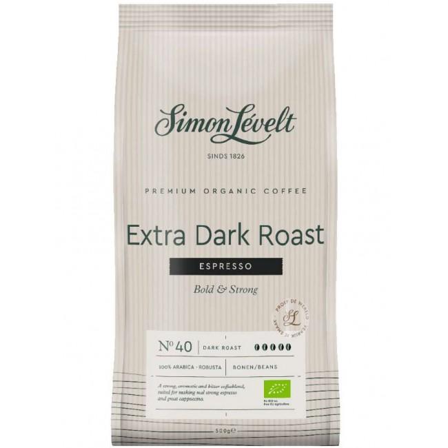 Cafea ecologica Espresso boabe Extra Dark Roast, Simon Lévelt