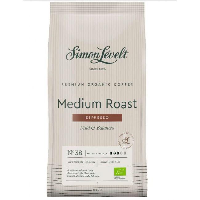 Cafea ecologica Espresso boabe mediu prajita, Simon Lévelt