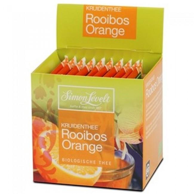 Ceai Rooibos cu portocoale eco, 10 pliculi individuale, Simon Lévelt