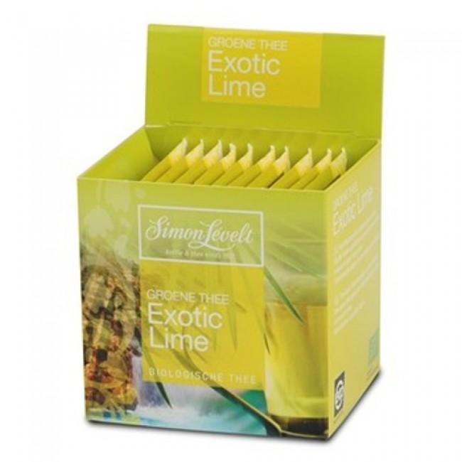 Ceai verde eco cu lamaie, 10 pliculete individuale, Simon Lévelt
