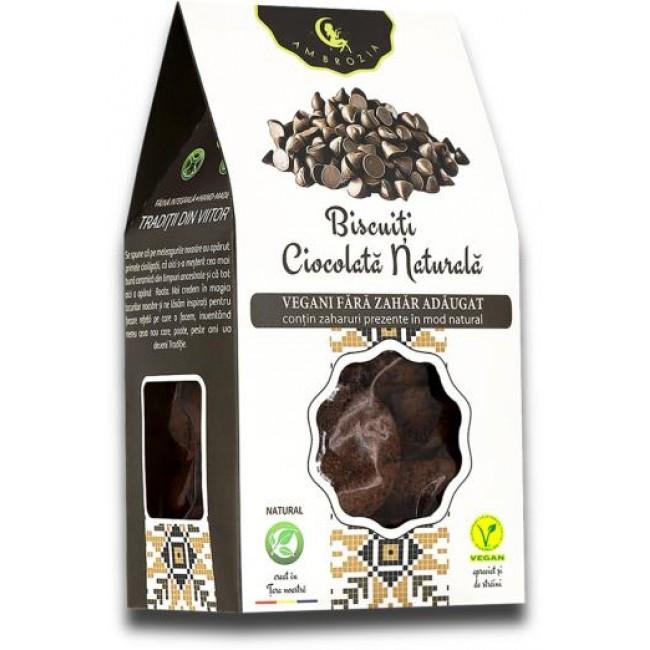 Biscuiti vegani cu ciocolata naturala fara adaos de zahar