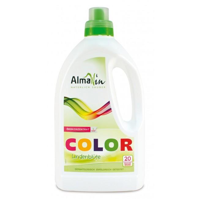 Detergent lichid de rufe color cu flori de tei Almawin