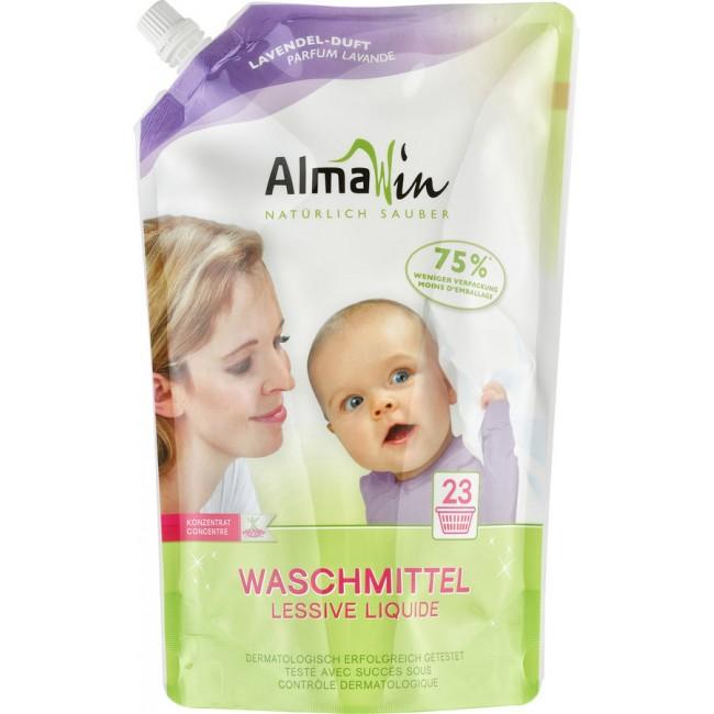 Detergent lichid de rufe color cu flori de tei Almawin 1,5l