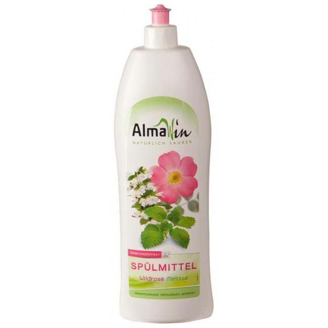 Detergent concentrat de vase cu trandafir salbatic si melisa 1L, ecologic - Almawin