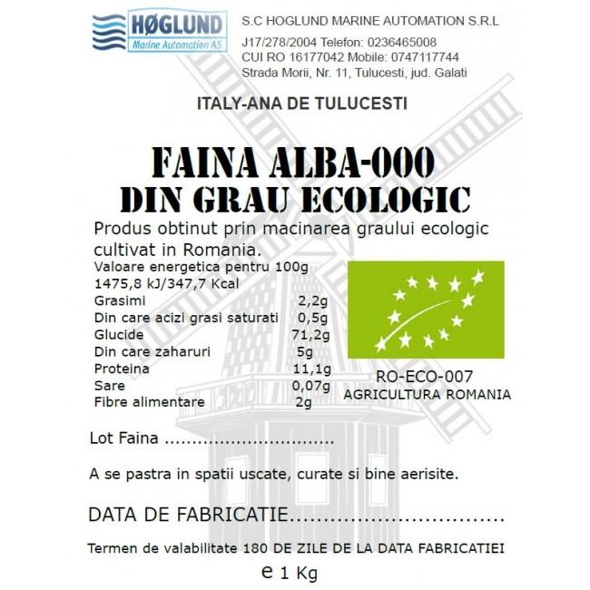 Faina alba tip 000 din grau ecologic