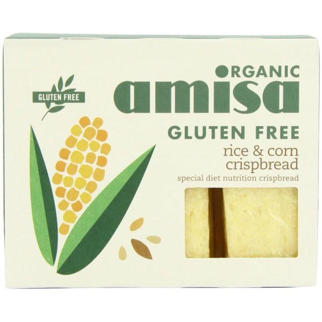 Painici crocante cu orez si porumb fara gluten Amisa Organic
