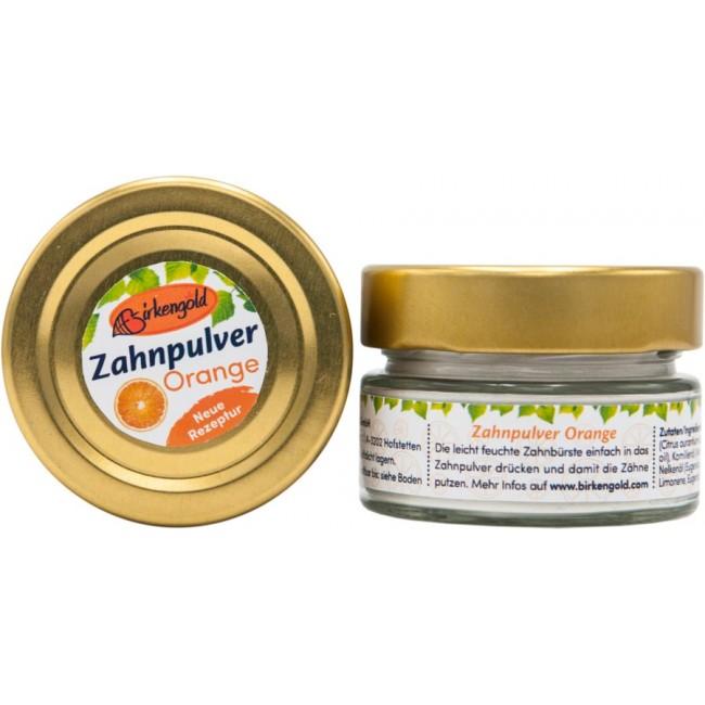 Praf de curatare dinti cu portocale, Birkengold