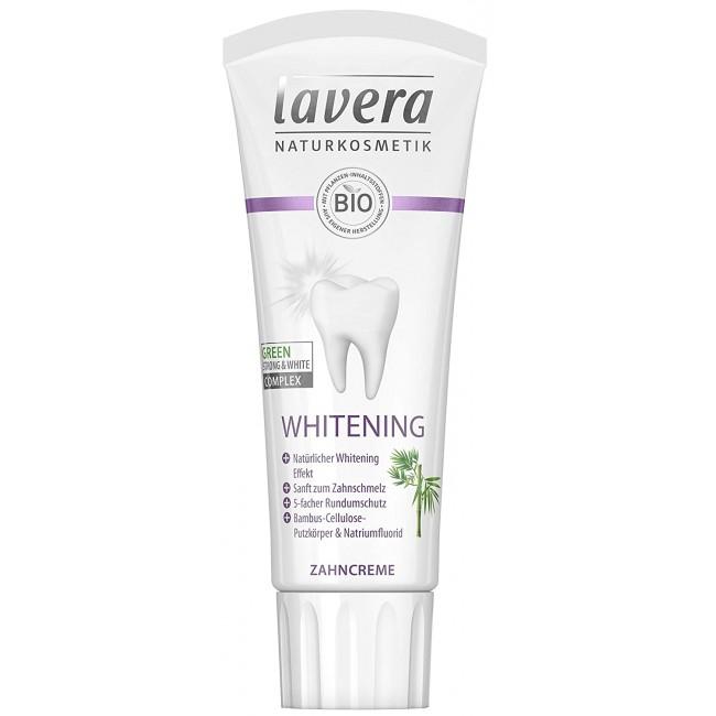 Pasta de dinti eco pentru albire cu fluor Lavera