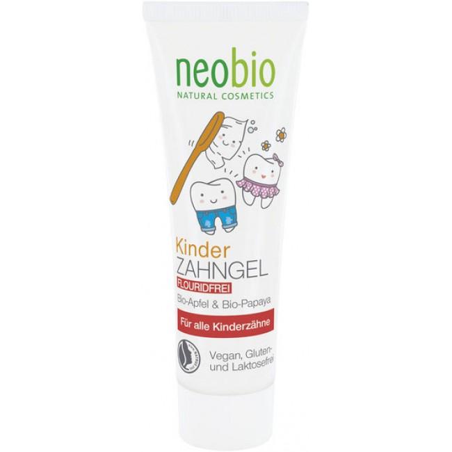Pasta de dinti gel bio fara fluorid pentru copii, neobio