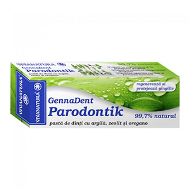 Pasta de dinti GennaDent Parodontik cu argila, zeolit si oregano