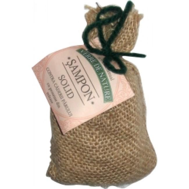 Sampon vegetal solid contra caderii parului, fabricat manual