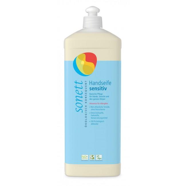 Sapun lichid Sensitv ecologic pentru maini, fata si corp 1L