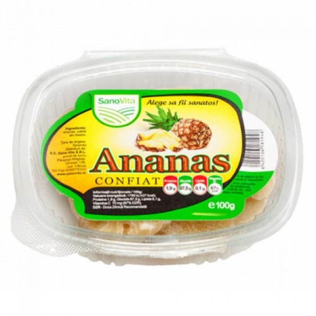 Ananas confiat 100 g - SanoVita