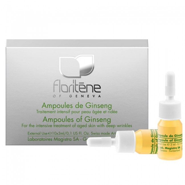 Floritene Fiole cu extract de Ginseng, 3ml
