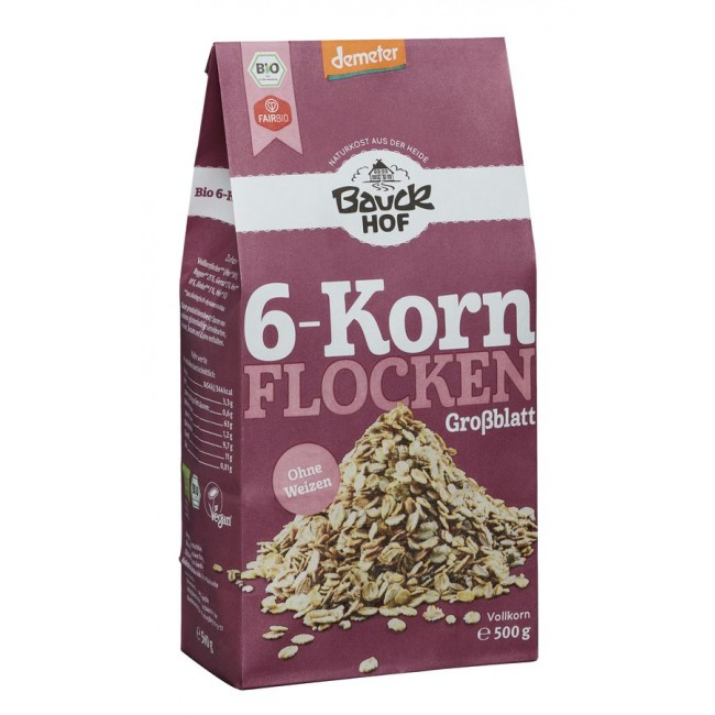 Fulgi integrali de cereale ecologice fara grau