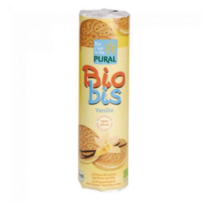 Biscuiti eco umpluti cu crema de vanilie Bio-Bis, vegan