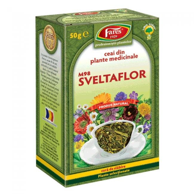Sveltaflor M98 - ceai din plante medicinale pentru mentinerea greutatii corporale