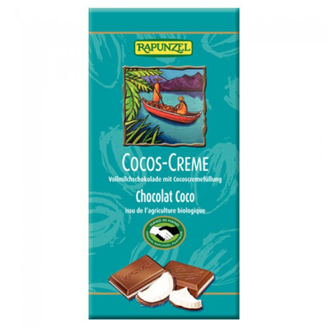 Ciocolata ecologica cu crema de cocos, Rapunzel