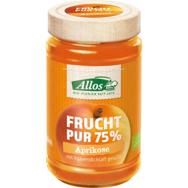 Fruct Pur 75% - Dulceata (piure de fructe) ecologica caise, fara zahar