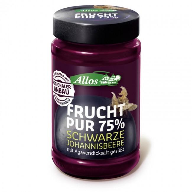 Fruct Pur 75% - Dulceata (piure de fructe) ecologica de coacaze negre, fara zahar