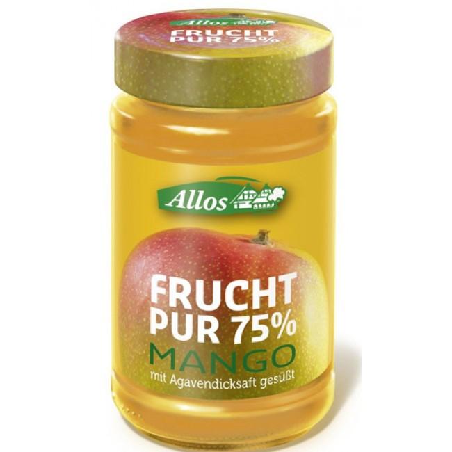 Fruct Pur 75% - Dulceata (piure de fructe) ecologica de mango, fara zahar