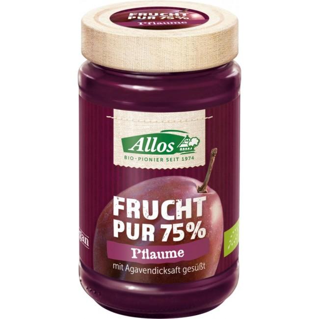 Fruct Pur 75% - Dulceata prune ecologica (piure de fructe), fara zahar