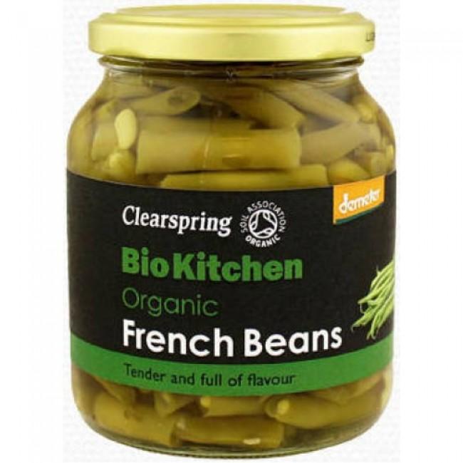 "Fasole verde eco in suc propriu ""French bean"" Demeter, Clearspring"