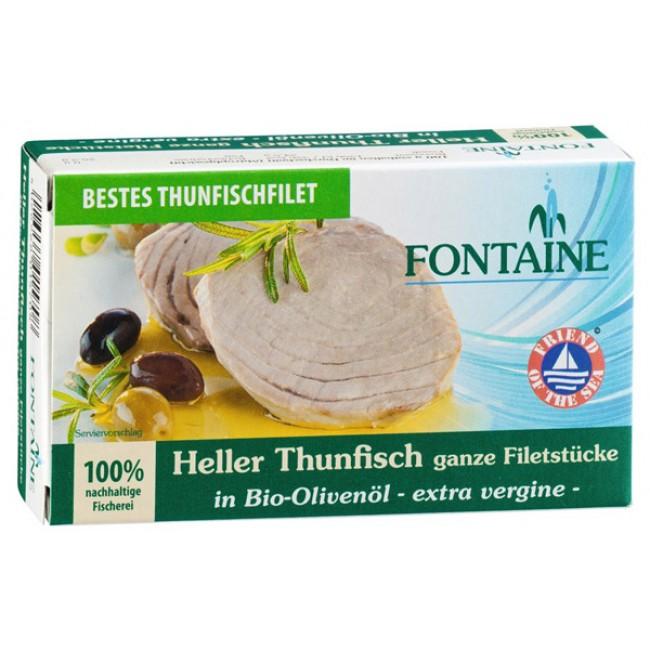 File de ton in ulei de masline bio Extra Virgin, Fontaine