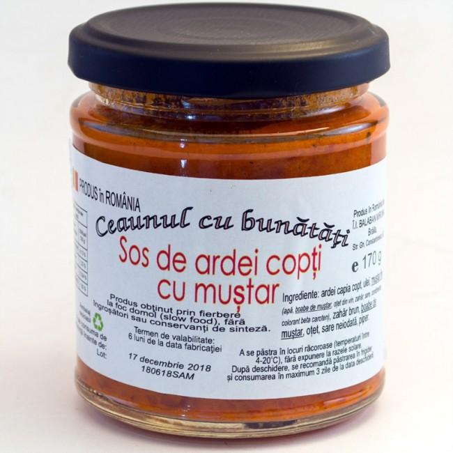 Sos de ardei copti cu mustar - Ceaunul cu bunatati (slow food)
