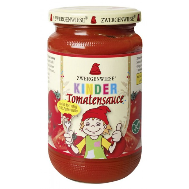 Sos de rosii ecologic indulcit cu mere pentru copii, fara gluten, Zwergenwiese