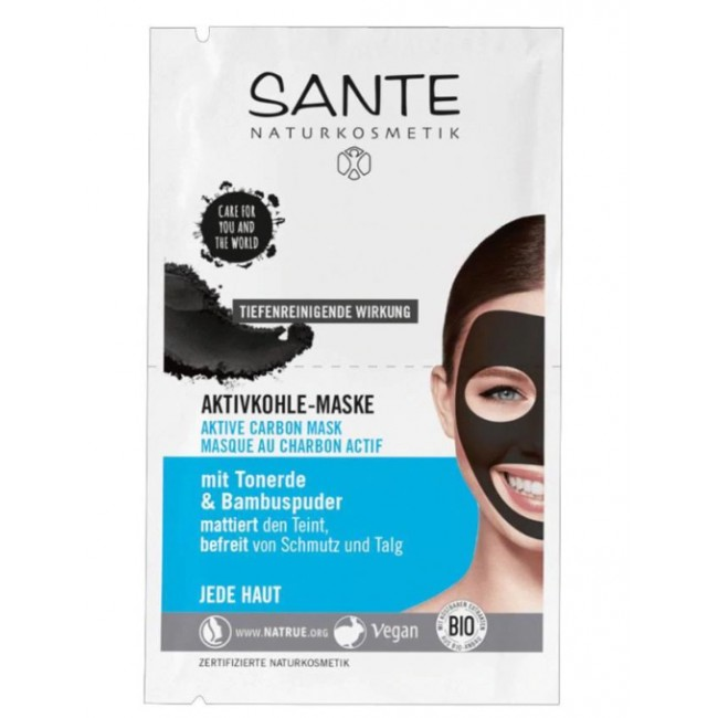 Masca faciala cu carbune Activ 2x4ml Sante