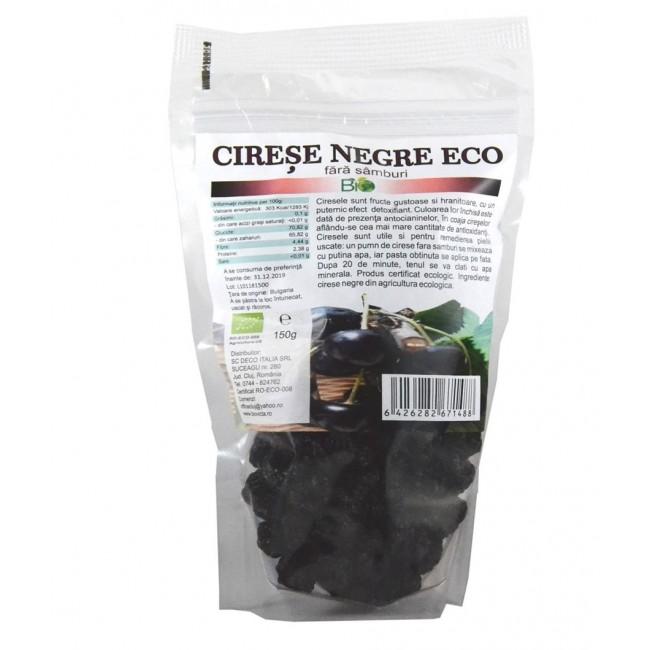 Cirese negre uscate ecologice fara samburi