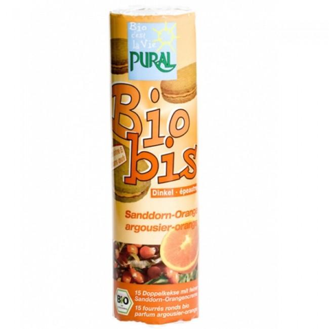 Biscuiti eco din alac umpluti cu crema de portocale si catina, Bio-Bis, de post