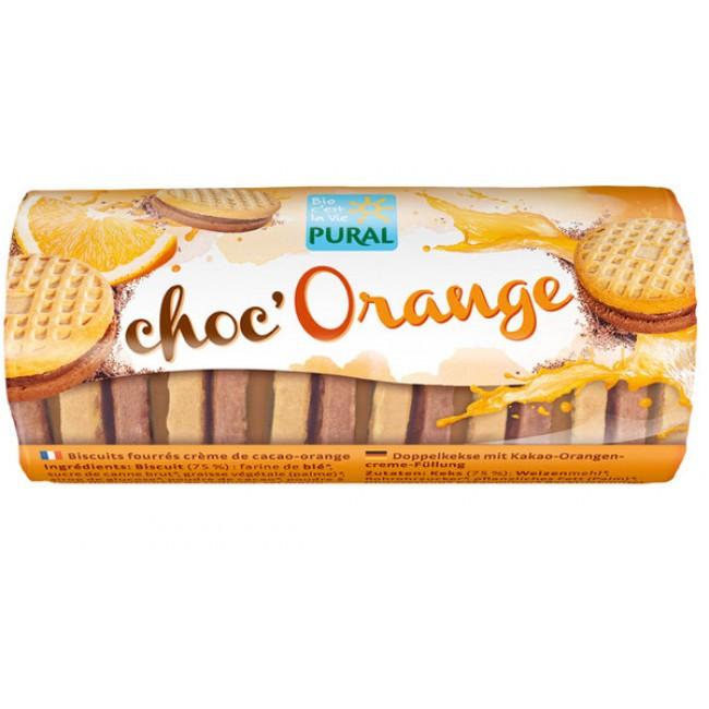 Biscuiti umpluti ecologici cu cacao si portocale, Pural