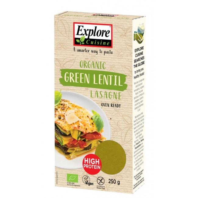Paste proteice Lasagne din linte verde, eco, fara gluten