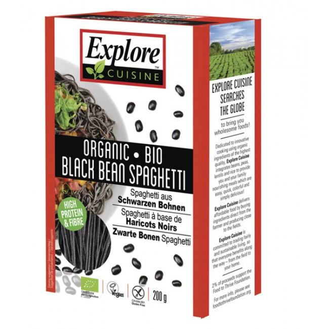 Paste proteice spaghete din fasole neagra, eco, fara gluten