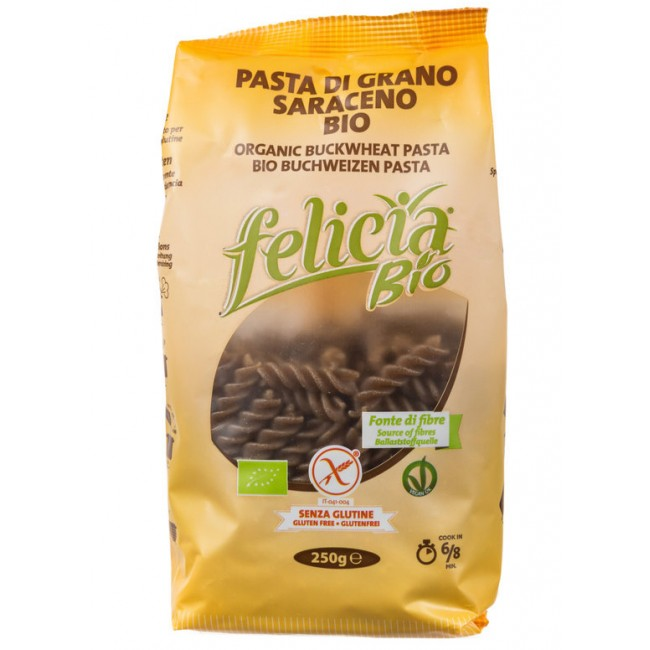 Paste Fusilli din hrisca fara gluten, Felicia bio