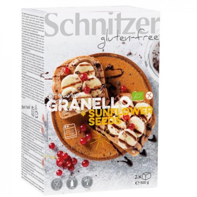 Paine fara gluten cu seminte de floarea soarelui - Schnitzer