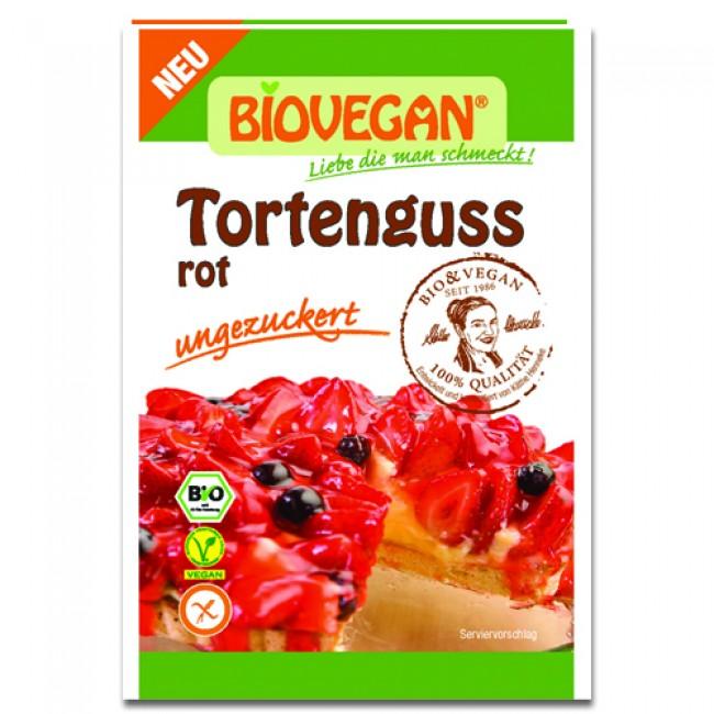 Glazura de gelatina vegana rosie agar-agar ecologica, fara gluten