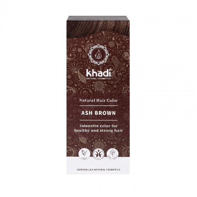 Vopsea de par naturala Saten cenusiu Khadi
