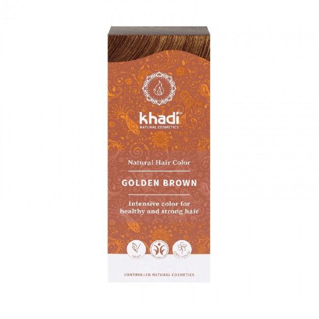 Vopsea de par naturala Saten auriu Khadi