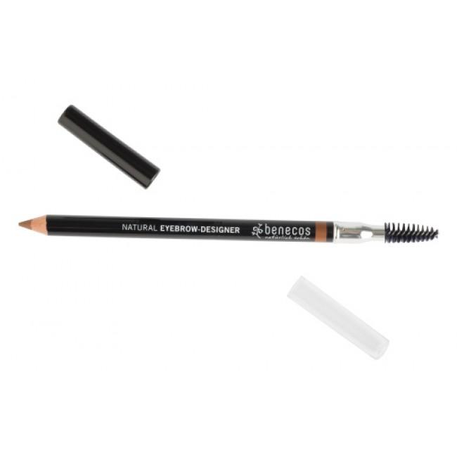 Creion bio pentru sprancene maro deschis, Benecos