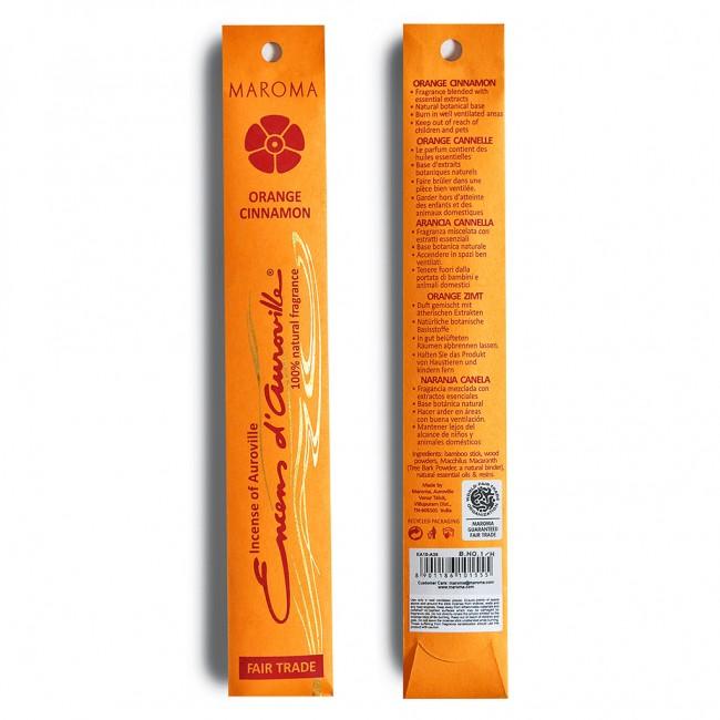 Betisoare parfumate din bambus portocala si scortisoara