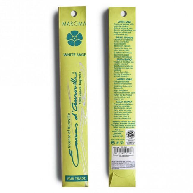 Betisoare parfumate din bambus salvie alba