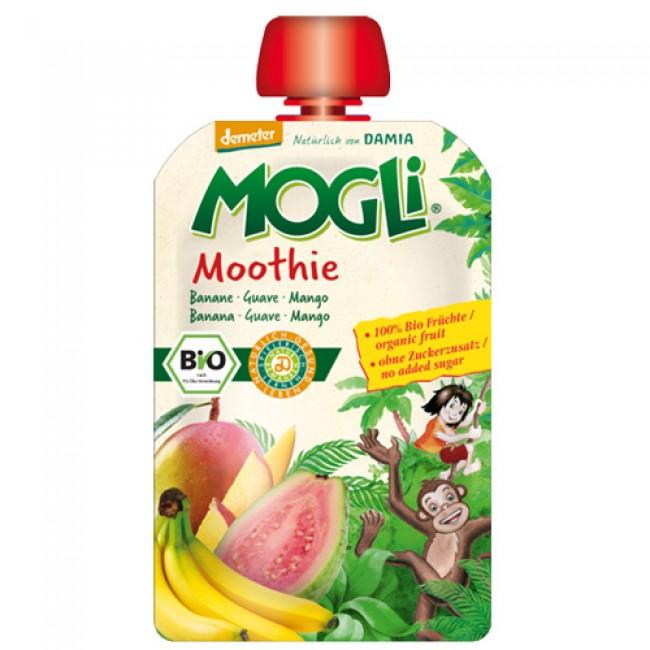Piure ecologic Moothie din fructe, cu banane, guava si mango
