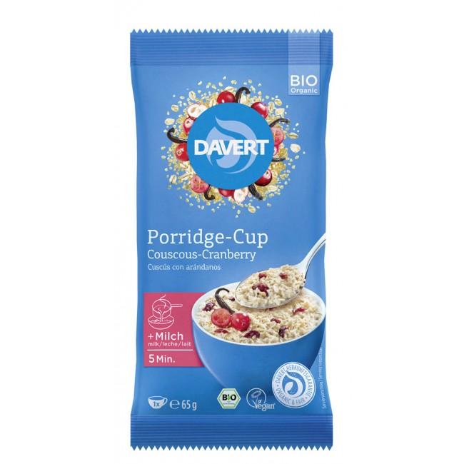 Porridge (instant) cu couscous si merisoare