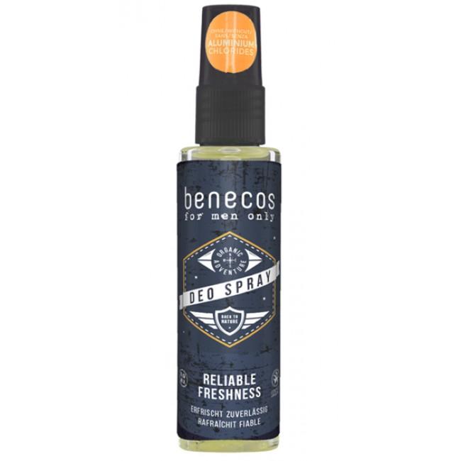 Deodorant spray pentru barbati, fara aluminiu, Benecos