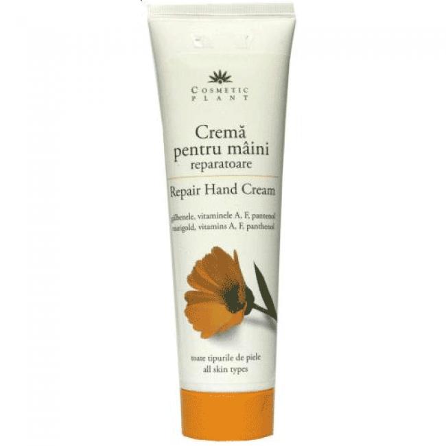 Crema pentru maini reparatoare cu extract de galbenele, vitamine, pantenol, Cosmetic Plant