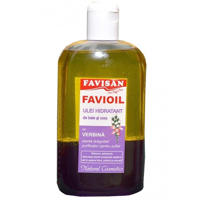 Ulei hidratant de baie si corp cu verbina, Favisan